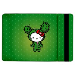Vector Cat Kitty Cactus Green  Ipad Air 2 Flip by amphoto