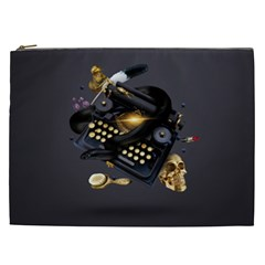 Typewriter Skull Witch Snake  Cosmetic Bag (xxl)  by amphoto