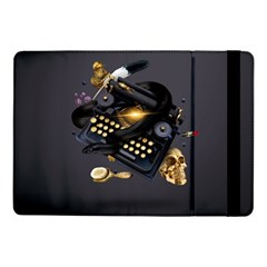 Typewriter Skull Witch Snake  Samsung Galaxy Tab Pro 10 1  Flip Case by amphoto