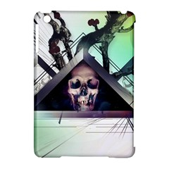 Skull Triangle Wood  Apple Ipad Mini Hardshell Case (compatible With Smart Cover) by amphoto