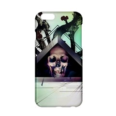 Skull Triangle Wood  Apple Iphone 6/6s Hardshell Case by amphoto