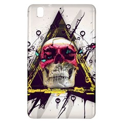 Skull Paint Butterfly Triangle  Samsung Galaxy Tab Pro 8 4 Hardshell Case by amphoto