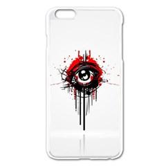 Red White Black Figure  Apple Iphone 6 Plus/6s Plus Enamel White Case by amphoto