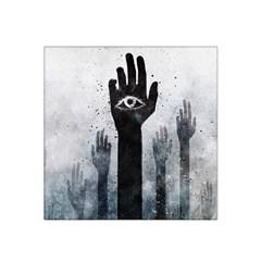 Hand Eye Vector  Satin Bandana Scarf by amphoto