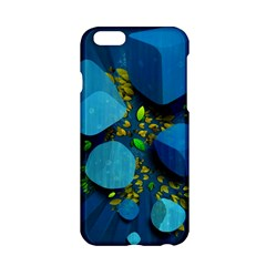 Cube Leaves Dark Blue Green Vector  Apple Iphone 6/6s Hardshell Case by amphoto