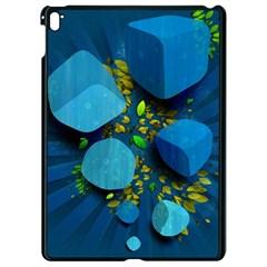 Cube Leaves Dark Blue Green Vector  Apple Ipad Pro 9 7   Black Seamless Case by amphoto