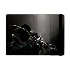 Black White Figure Form  Apple Ipad Mini Flip Case by amphoto