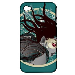 Angel Wings Paint  Apple Iphone 4/4s Hardshell Case (pc+silicone) by amphoto