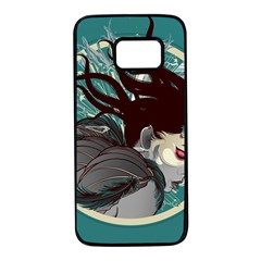 Angel Wings Paint  Samsung Galaxy S7 Black Seamless Case by amphoto