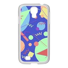 Memphis #42 Samsung Galaxy S4 I9500/ I9505 Case (white) by RockettGraphics