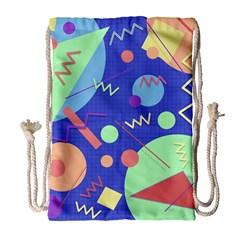 Memphis #42 Drawstring Bag (large) by RockettGraphics