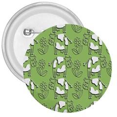 Cow Flower Pattern Wallpaper 3  Buttons by Nexatart