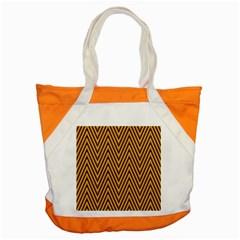 Chevron Brown Retro Vintage Accent Tote Bag by Nexatart