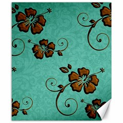 Chocolate Background Floral Pattern Canvas 8  X 10  by Nexatart