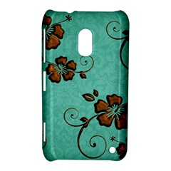 Chocolate Background Floral Pattern Nokia Lumia 620 by Nexatart