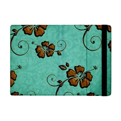 Chocolate Background Floral Pattern Ipad Mini 2 Flip Cases by Nexatart