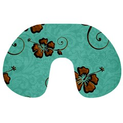Chocolate Background Floral Pattern Travel Neck Pillows by Nexatart