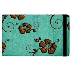 Chocolate Background Floral Pattern Apple Ipad Pro 9 7   Flip Case by Nexatart