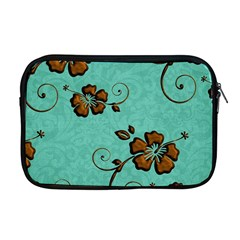 Chocolate Background Floral Pattern Apple Macbook Pro 17  Zipper Case by Nexatart