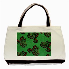 Chocolate Background Floral Pattern Basic Tote Bag (two Sides) by Nexatart