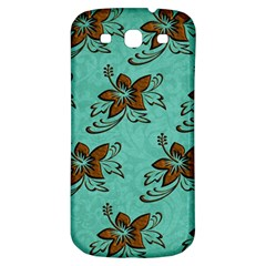 Chocolate Background Floral Pattern Samsung Galaxy S3 S Iii Classic Hardshell Back Case by Nexatart