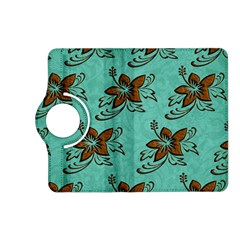 Chocolate Background Floral Pattern Kindle Fire Hd (2013) Flip 360 Case by Nexatart