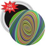Ellipse Background Elliptical 3  Magnets (100 pack)