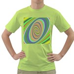Ellipse Background Elliptical Green T-Shirt