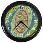 Ellipse Background Elliptical Wall Clocks (Black)