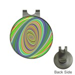 Ellipse Background Elliptical Hat Clips with Golf Markers