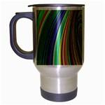 Ellipse Background Elliptical Travel Mug (Silver Gray)