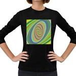 Ellipse Background Elliptical Women s Long Sleeve Dark T-Shirts