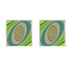 Ellipse Background Elliptical Cufflinks (square) by Nexatart