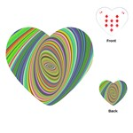 Ellipse Background Elliptical Playing Cards (Heart)