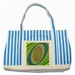 Ellipse Background Elliptical Striped Blue Tote Bag