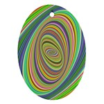 Ellipse Background Elliptical Oval Ornament (Two Sides)