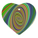 Ellipse Background Elliptical Heart Ornament (Two Sides)