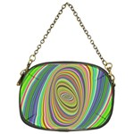 Ellipse Background Elliptical Chain Purses (One Side)