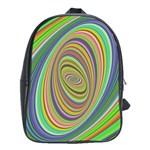 Ellipse Background Elliptical School Bag (Large)