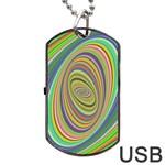 Ellipse Background Elliptical Dog Tag USB Flash (One Side)