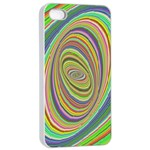 Ellipse Background Elliptical Apple iPhone 4/4s Seamless Case (White)