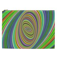 Ellipse Background Elliptical Cosmetic Bag (xxl)  by Nexatart