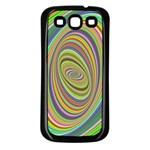 Ellipse Background Elliptical Samsung Galaxy S3 Back Case (Black)