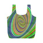 Ellipse Background Elliptical Full Print Recycle Bags (M)