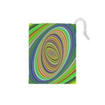 Ellipse Background Elliptical Drawstring Pouches (Small)