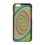 Ellipse Background Elliptical Apple iPhone 6/6S Black Enamel Case