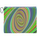 Ellipse Background Elliptical Canvas Cosmetic Bag (XXXL)