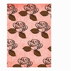 Chocolate Background Floral Pattern Small Garden Flag (two Sides) by Nexatart