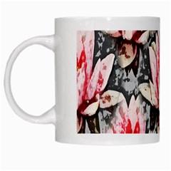 Water Lily Background Pattern White Mugs by Nexatart