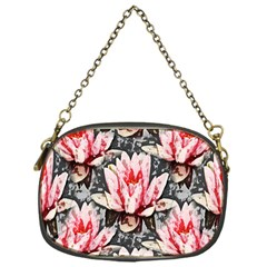 Water Lily Background Pattern Chain Purses (one Side)  by Nexatart